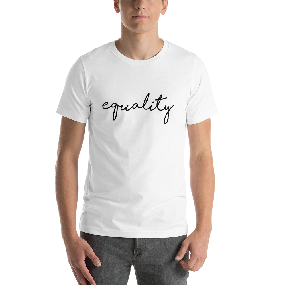 Equality Black Print T Shirt Unisex White