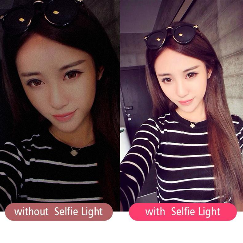 LED Selfie Ring Light With Wide Angle Lens