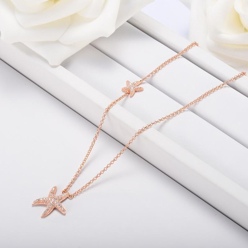 Starfish Necklace for Women Sea Star Ocean Jewelry