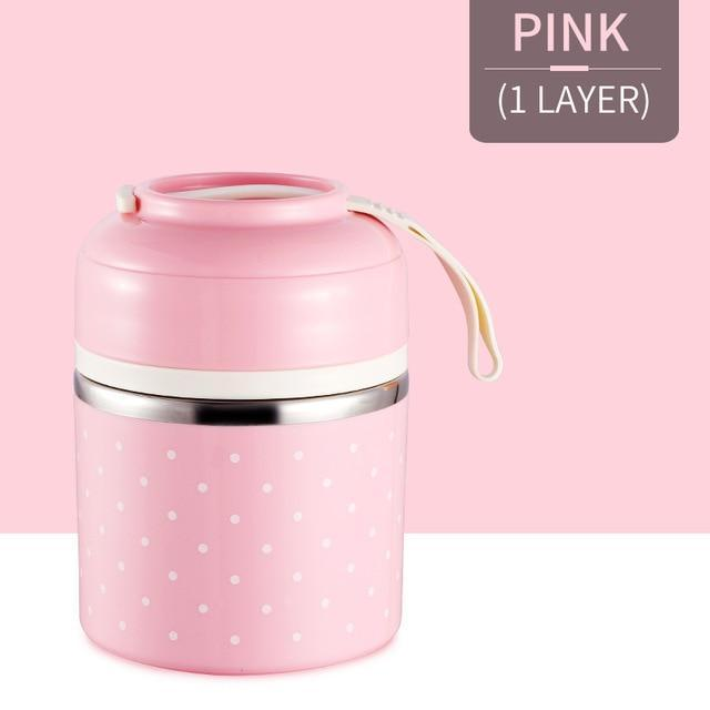 Cute Japanese Thermal Lunch Box Leak-Proof Stainless Steel
