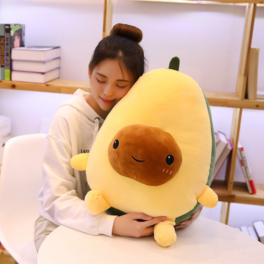 Avocado Friends Stuffed Plush Pillow