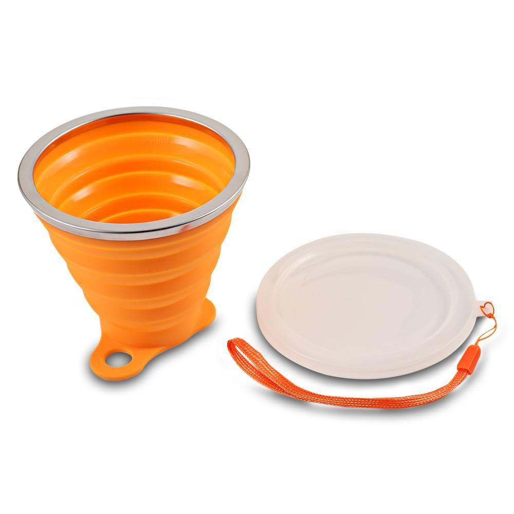 Collapsible Cup with Lid 270 mL