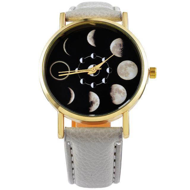 Solar eclipse quartz watch for women