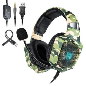 Camo Gaming Headset for PS4 PC XBOX
