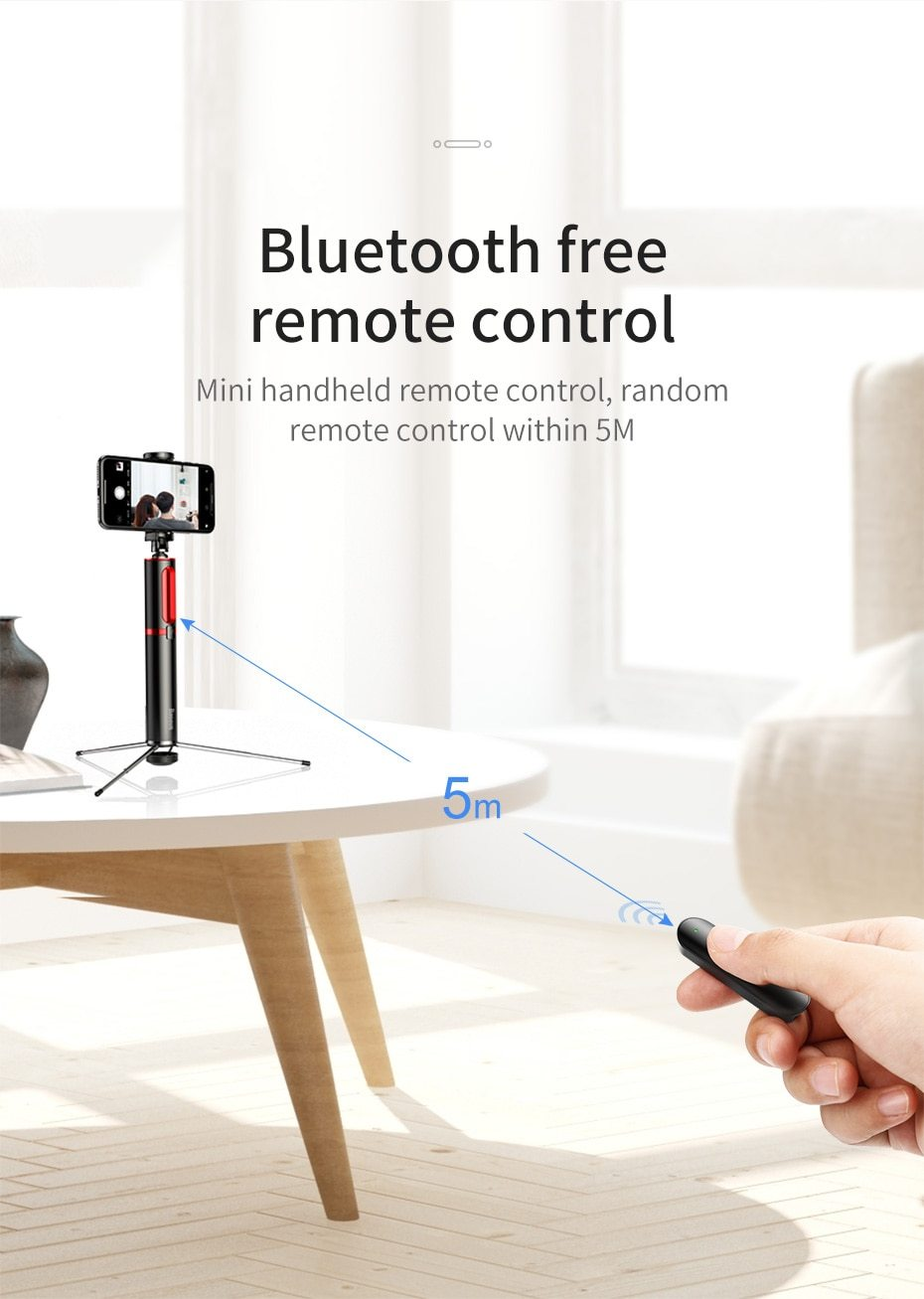 Selfie Stick Tripod with Bluetooth Remote