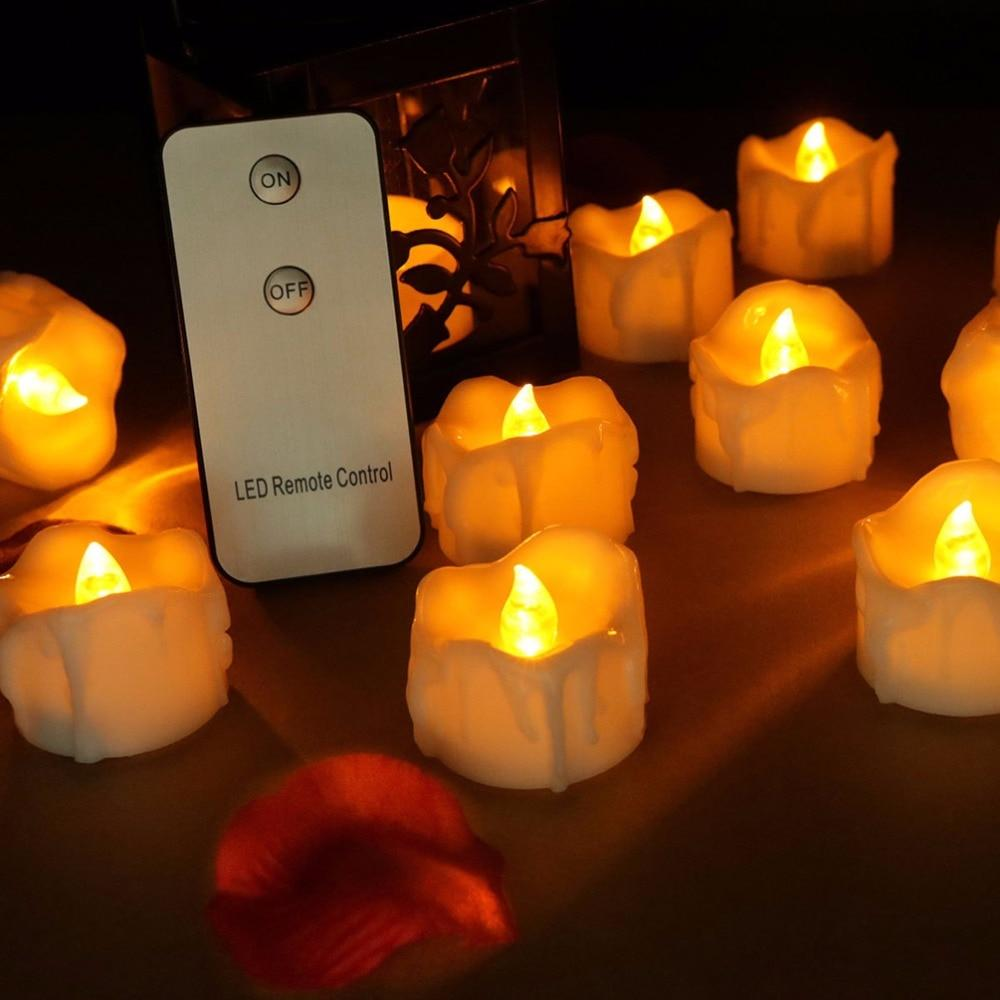 12 Remote Flameless Candles