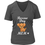 Rescue Dog Mom Women's V-Neck Tee