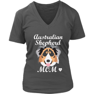 australian shepherd mom shirt charcoal