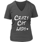 Crazy Cat Lady Women's V-Neck Shirt