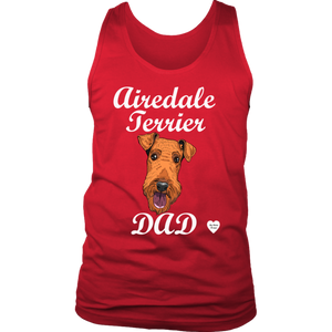 Airedale Terrier Dad Tank Top Red