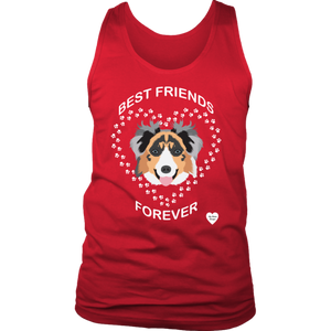 australian shepherd best friends tank top red