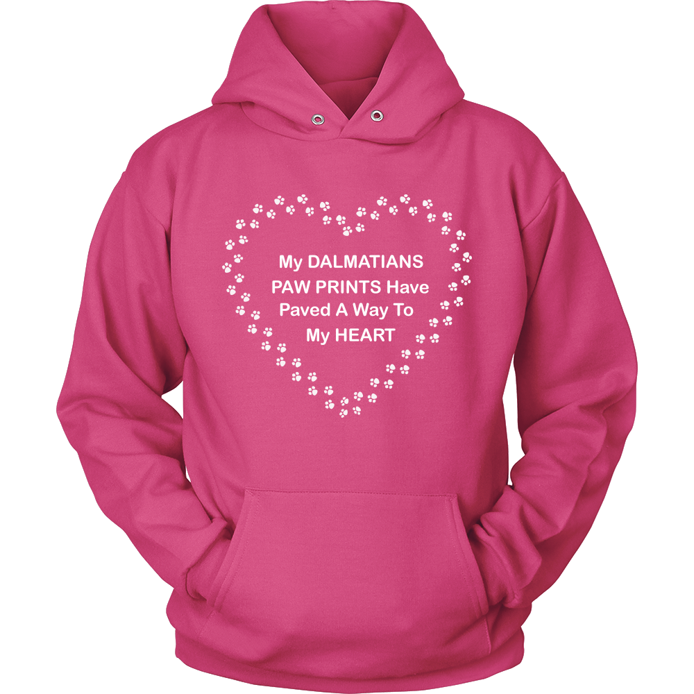Dalmatian Paw Prints To My Heart Hoodie