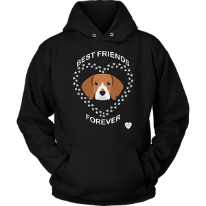 Beagle Best Friends Forever Hoodie Black