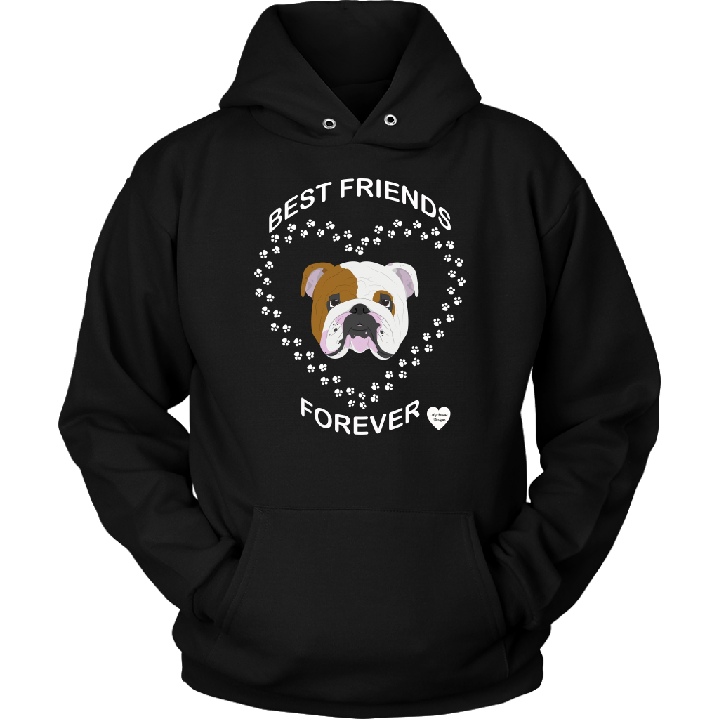 English Bulldog Best Friends Forever Hoodie Black