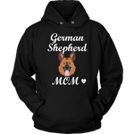 German Shepherd Mom Hoodie Black