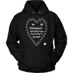 My Chihuahua's Paw Prints -Black -Hoodie Black