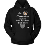 Australian Shepherd Fills My Heart Hoodie Black
