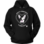 French Bulldog Best Friends Forever Hoodie Black