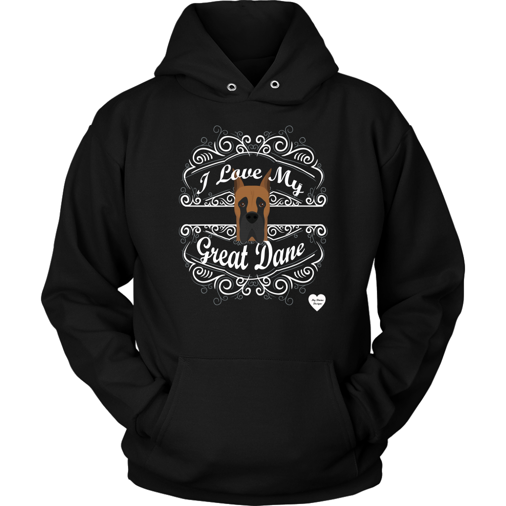 I Love My Great Dane Hoodie