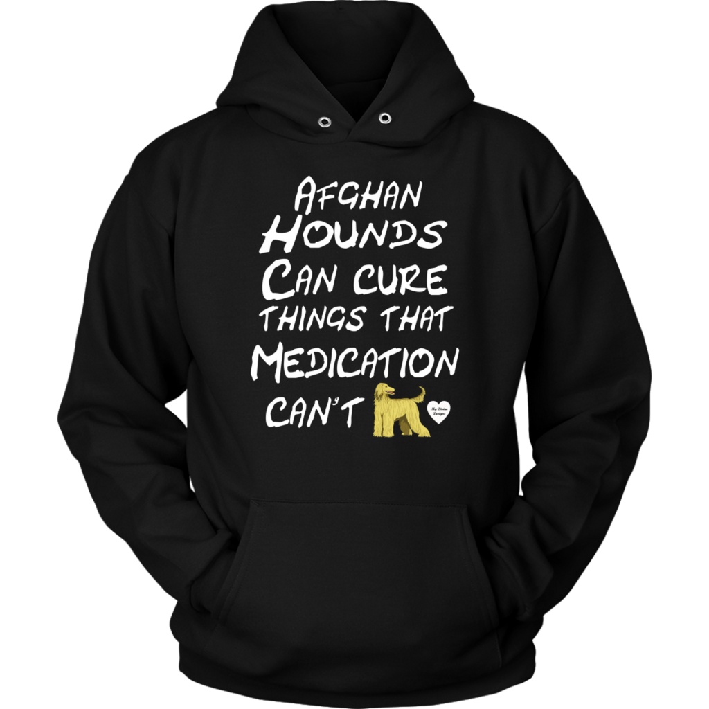 Afghan Hounds Can Cure Things Hoodie