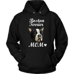 Boston Terrier Mom Hoodie Black