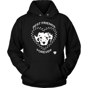 Dalmatian Best Friends Forever Hoodie Black