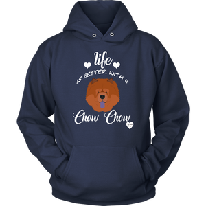 Life Is Better With A Chow Chow Hoodie Navy