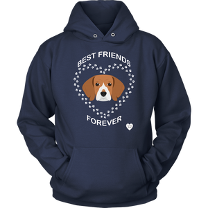 Beagle Best Friends Forever Hoodie Navy