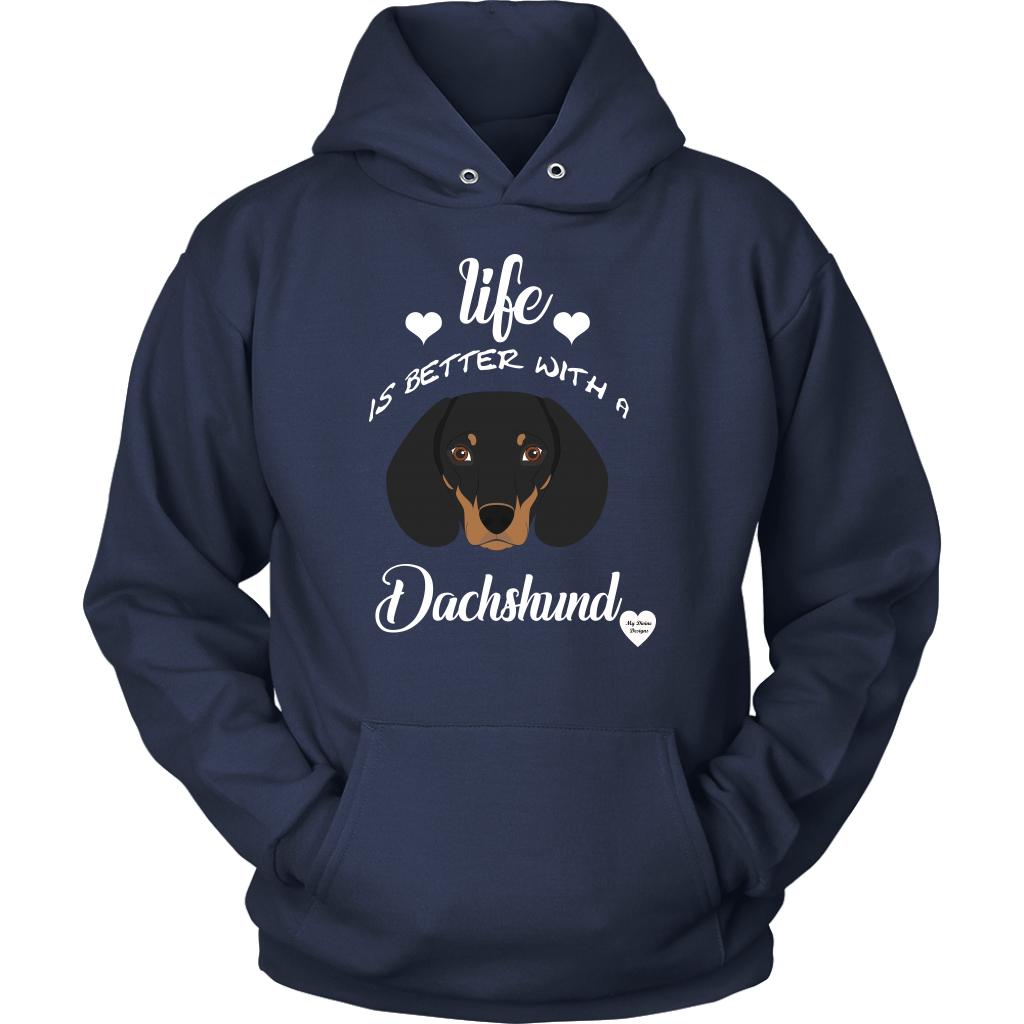 Life Is Better With A Dachshund Hoodie Navy
