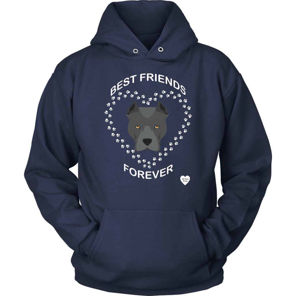 Pit Bull Best Friends Forever Hoodie Navy