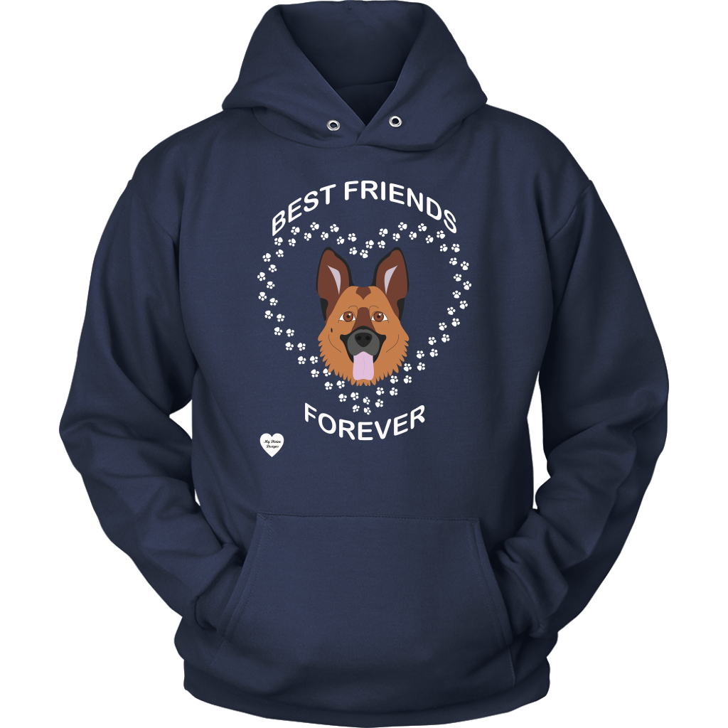German Shepherd Best Friends Forever Hoodie