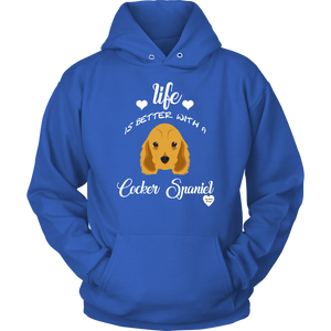 Life Is Better With A Cocker Spaniel Hoodie Royal Blue