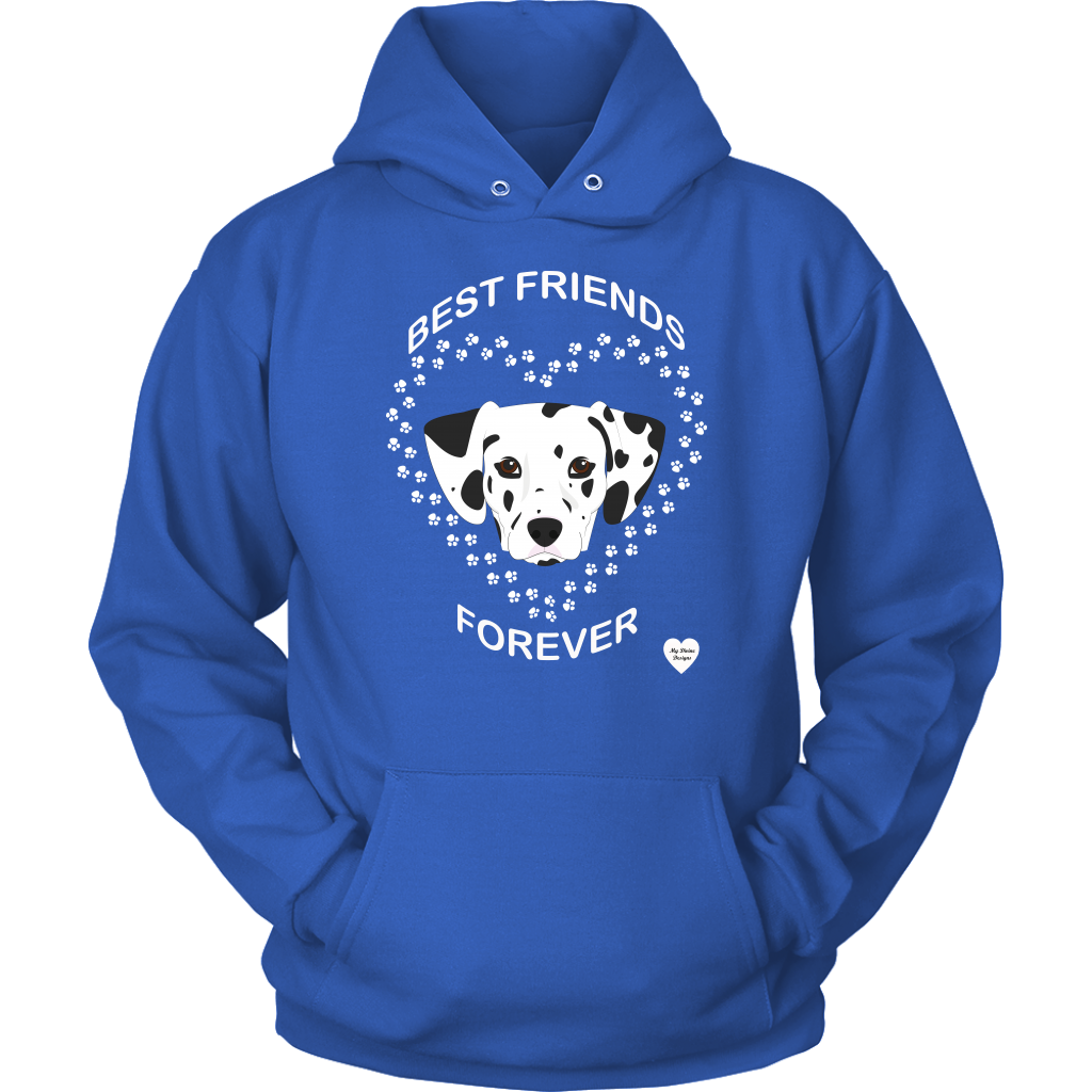 Dalmatian Best Friends Forever Hoodie Royal Blue
