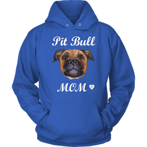 Pit Bull Mom Tan Hoodie Royal Bllue