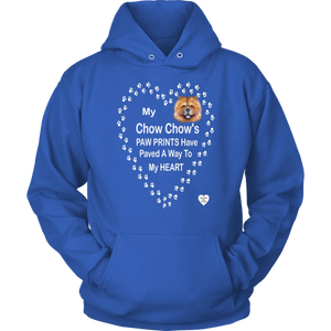 My Chow Chow's Paw Prints - Tan - Hoodie Royal Blue