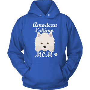 american eskimo mom hoodie royal blue