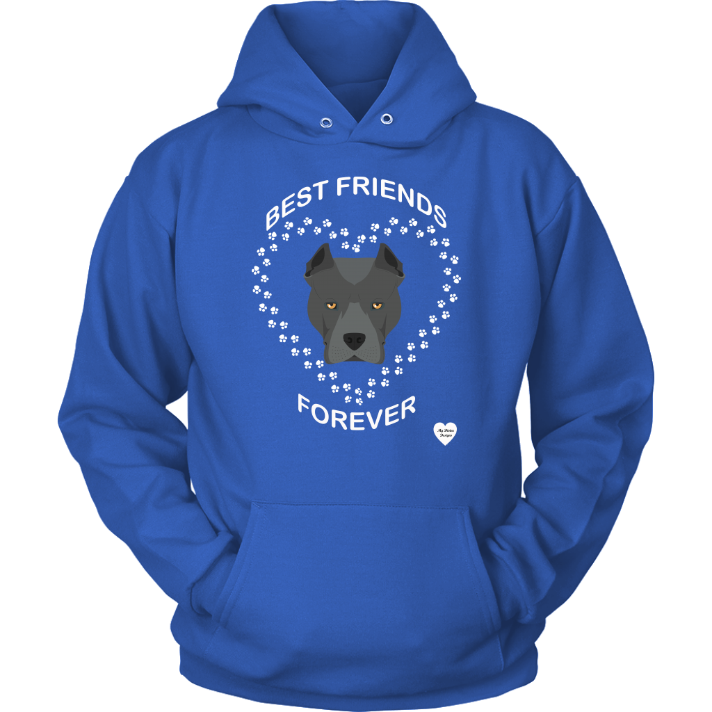 Pit Bull Best Friends Forever Hoodie Royal Blue