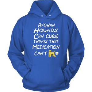 Afghan Hound Can Cure Hoodie Royal Blue