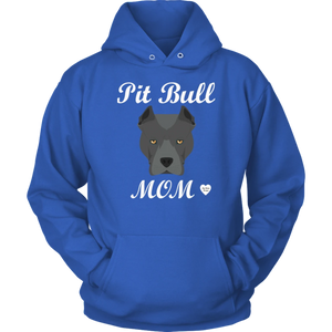 Pit Bull Mom Black Hoodie Royal Blue