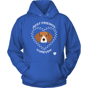 Beagle Best Friends Forever Hoodie Royal Blue