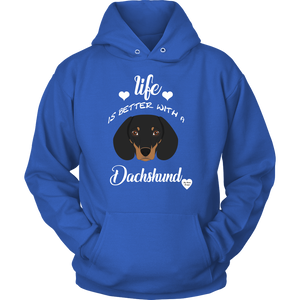 Life Is Better With A Dachshund Hoodie Royal Blue