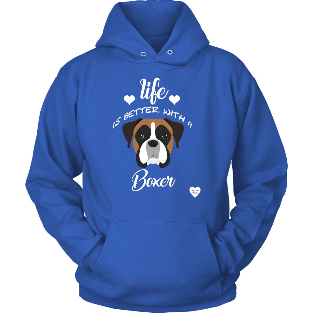 Life Is Better With A Boxer Hoodie Royal Blue