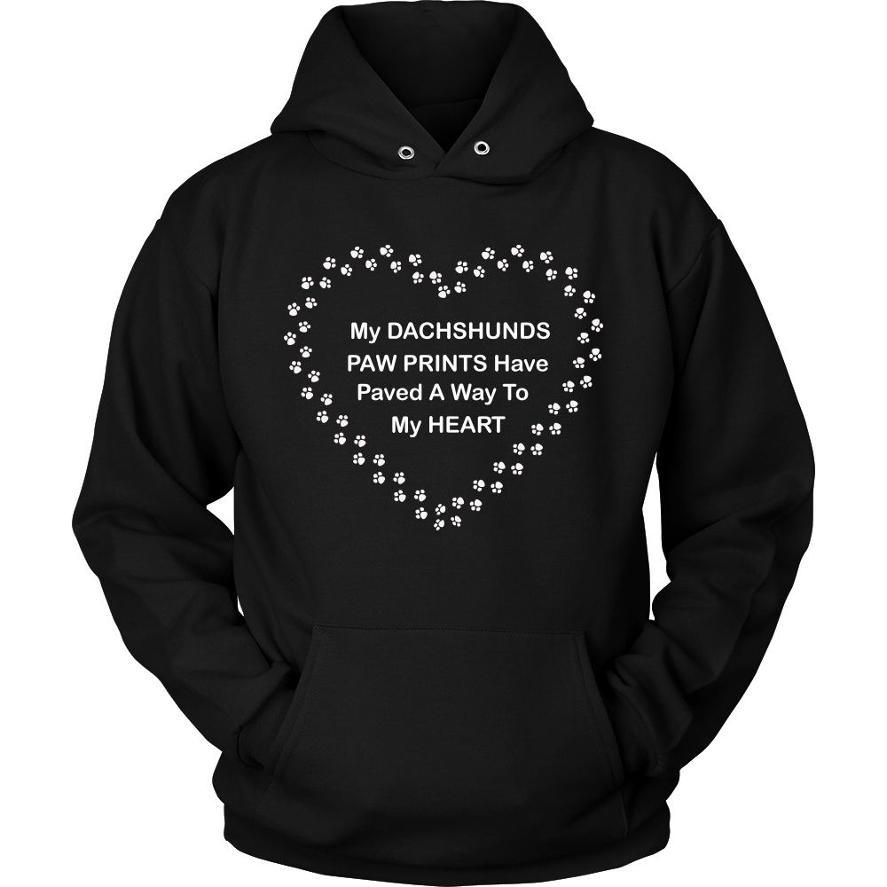 Dachshund Paw Prints To My Heart Hoodie