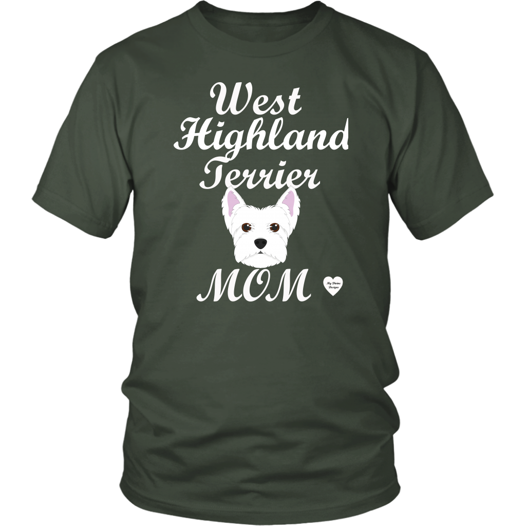 west highland terrier t-shirt olive