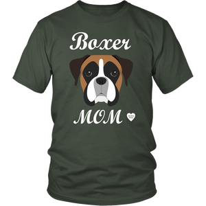 boxer mom olive t-shirt