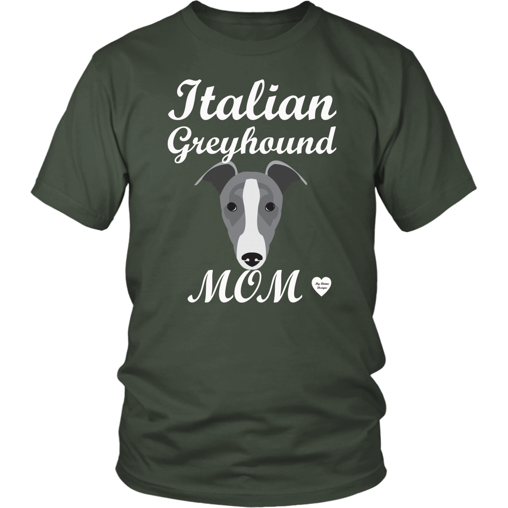 italian greyhound mom olive t-shirt