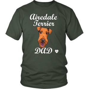 Airedale Terrier Dad T-Shirt Olive