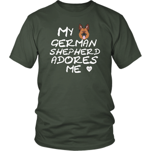 German Shepherd Adores Me T-Shirt Olive