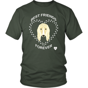 Afghan Hound Best Friends Forever T-Shirt Olive