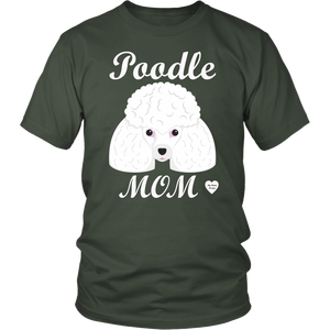 Poodle Mom olive t-shirt